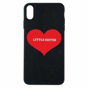 Etui na iPhone Xs Max Little sister, napis w sercu