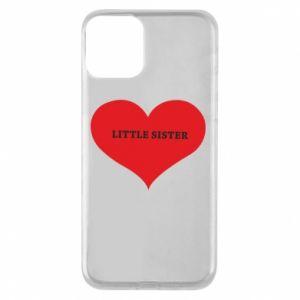 Etui na iPhone 11 Little sister, napis w sercu
