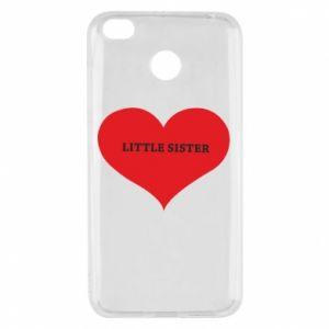 Etui na Xiaomi Redmi 4X Little sister, napis w sercu