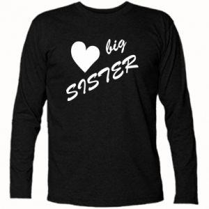 Koszulka z długim rękawem Little sister - PrintSalon