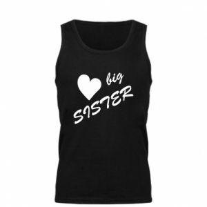 Męska koszulka Little sister - PrintSalon