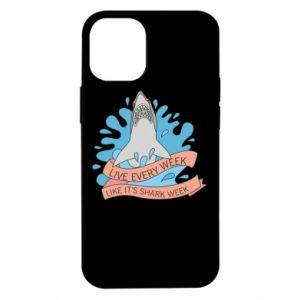 Etui na iPhone 12 Mini Live every week like it's shark week