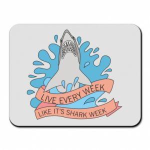 Podkładka pod mysz Live every week like it's shark week