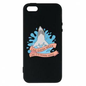 Etui na iPhone 5/5S/SE Live every week like it's shark week