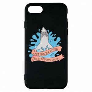 Etui na iPhone 8 Live every week like it's shark week
