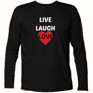 Koszulka z długim rękawem Live laugh love