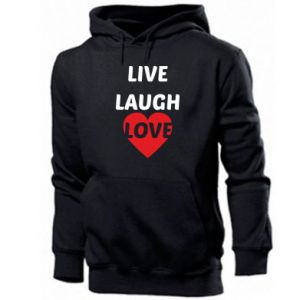 Męska bluza z kapturem Live laugh love