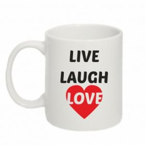 Kubek 330ml Live laugh love
