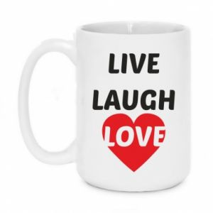 Kubek 450ml Live laugh love