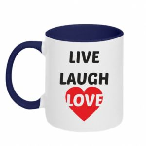 Kubek dwukolorowy Live laugh love