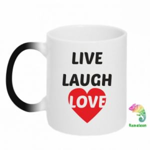 Kubek-kameleon Live laugh love