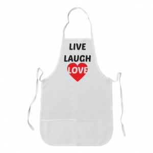 Fartuch Live laugh love