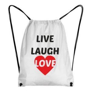 Plecak-worek Live laugh love