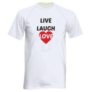 Męska koszulka sportowa Live laugh love