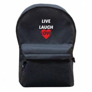 Plecak z przednią kieszenią Live laugh love