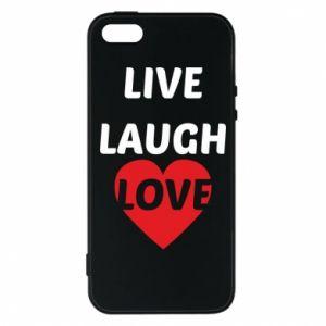 Etui na iPhone 5/5S/SE Live laugh love