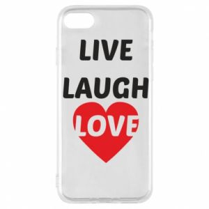 Etui na iPhone 7 Live laugh love