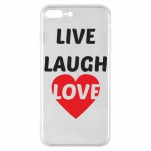 Etui na iPhone 7 Plus Live laugh love