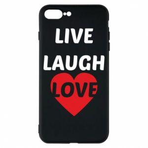 Etui na iPhone 8 Plus Live laugh love