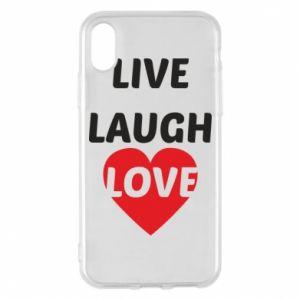 Etui na iPhone X/Xs Live laugh love