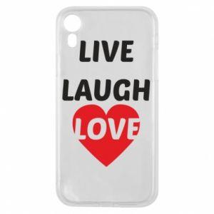 Etui na iPhone XR Live laugh love