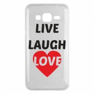 Etui na Samsung J3 2016 Live laugh love