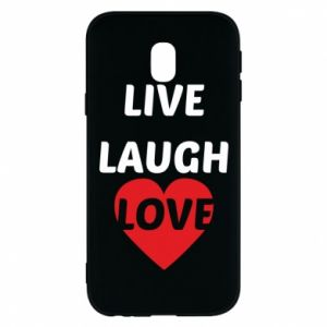 Etui na Samsung J3 2017 Live laugh love