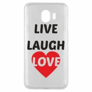 Etui na Samsung J4 Live laugh love