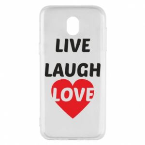 Etui na Samsung J5 2017 Live laugh love