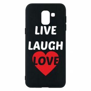 Etui na Samsung J6 Live laugh love