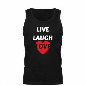 Męska koszulka Live laugh love