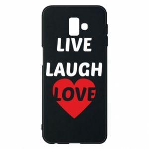 Etui na Samsung J6 Plus 2018 Live laugh love