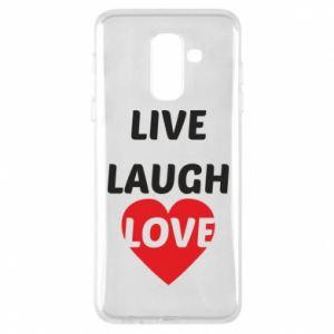 Etui na Samsung A6+ 2018 Live laugh love