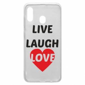 Etui na Samsung A20 Live laugh love