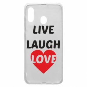 Etui na Samsung A30 Live laugh love