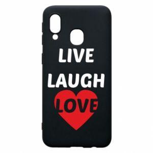 Etui na Samsung A40 Live laugh love