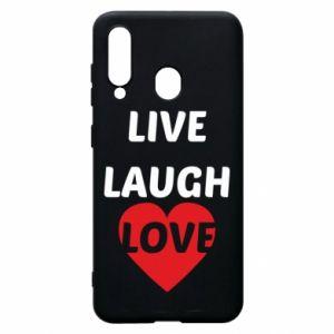 Etui na Samsung A60 Live laugh love