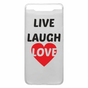 Etui na Samsung A80 Live laugh love
