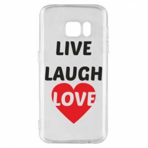 Etui na Samsung S7 Live laugh love