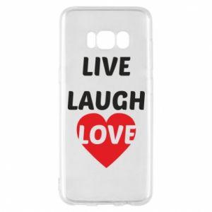 Etui na Samsung S8 Live laugh love