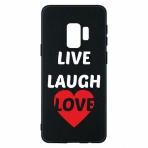 Etui na Samsung S9 Live laugh love