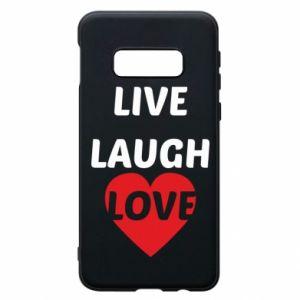 Etui na Samsung S10e Live laugh love