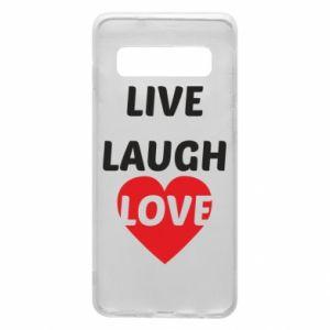 Etui na Samsung S10 Live laugh love