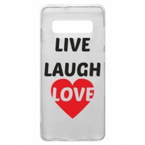 Etui na Samsung S10+ Live laugh love