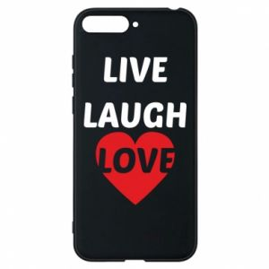 Etui na Huawei Y6 2018 Live laugh love
