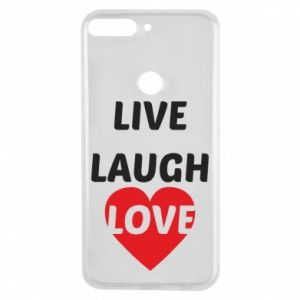 Etui na Huawei Y7 Prime 2018 Live laugh love