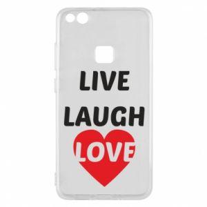 Etui na Huawei P10 Lite Live laugh love