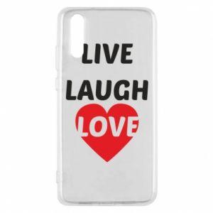 Etui na Huawei P20 Live laugh love