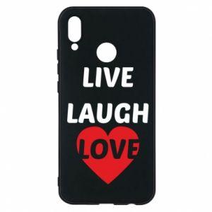 Etui na Huawei P20 Lite Live laugh love