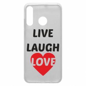 Etui na Huawei P30 Lite Live laugh love